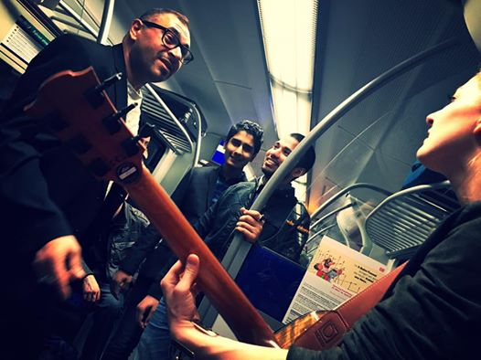 Internation subway jam